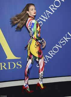 Impressive:Daring to impress, the starlet allowed her enviable physique to take center st...#gigihadid #versace #redcarpet