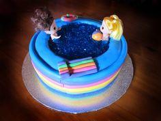 Girls Cakes :: swimming pool cake -
