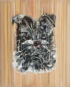 狗 Dog  40cmx50cm 布面油画 Oil on Linen