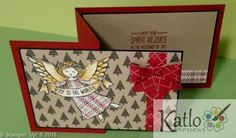 Wonder of Christmas Warmth & Cheer DSP Stampin' Up! 2016 Holiday Catalogue. Patchwork Angel by Kathryn Ruddick