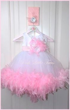Princess Valentine Couture Feather Tulle Party Dress-- Walsh I think Jade needs this! Birthday Tutu, 1st Birthday Girls, Princess Birthday, Girls Party Dress, Baby Dress, Tutu Outfits, Girl Outfits, Pageant Dresses, Tutu Dresses