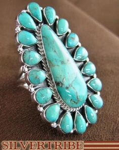 Sterling Silver Jewelry Turquoise Ring