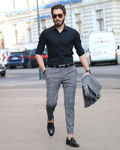 Mens fashion - Have a wonderful day guys In love with this loafer by 👌🏼 Formal Men Outfit, Formal Dresses For Men, Formal Shirts For Men, Men Formal, Semi Formal Outfits, Formal Pants, Winter Formal, Dress Casual, Casual Wear