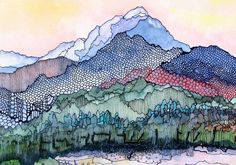 Pagosa Peak A decorative CERAMIC TILE wall art – x Fr 22 Jan 2020 – Abstracted Colorado mountain scene. Pagosa Peak A decorative CERAMIC TILE wall art – x Free U. Watercolor And Ink, Watercolor Paintings, Tattoo Watercolor, Watercolors, Body Painting, Painting Inspiration, Art Inspo, Rug Inspiration, Zantangle Art