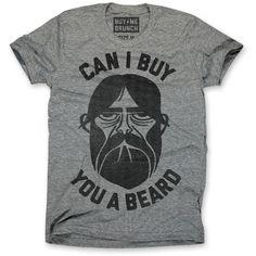 Buy You A Beard Tee Men's Gray