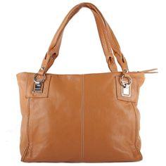 Damen Schultertasche - Cognac Leder - italienisches Leder - 1 Fach mit Reißverschluss: Amazon.de: Koffer, Rucksäcke & Taschen