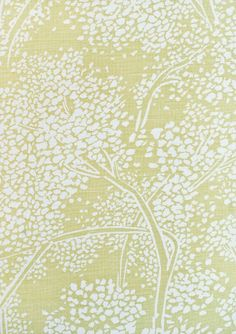Woodsford Linen Fabric Pistachio green fabric with large cream floral print. Suitable for Upholstery, Curtains and Soft Furnishings.