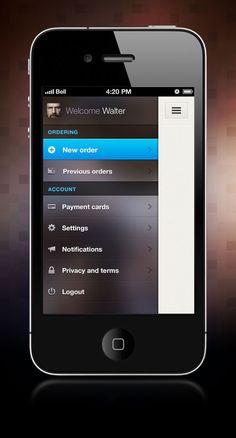 Slide-out navigation UI
