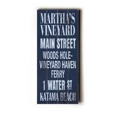 Artehouse LLC Martha's Vineyard Transit Wood Sign