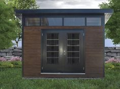 Planning To Build A Shed? Now You Can Build ANY Shed In A Weekend Even If You've Zero Woodworking Experience! Start building amazing sheds the easier way with a collection of shed plans! Backyard Studio, Backyard Sheds, Outdoor Sheds, Outdoor Rooms, Outdoor Living, Pool House Shed, Tiny House Cabin, Pool Houses, Shed Building Plans