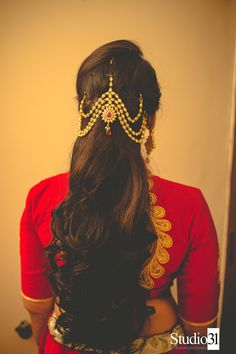 Gorgeous Wedding Hairstyles for Long Hair - Classy Hairstyles - Saree Hairstyles, Classy Hairstyles, Indian Bridal Hairstyles, Long Face Hairstyles, Wedding Hairstyles For Long Hair, Bride Hairstyles, South Indian Bride Hairstyle, Brunette Hairstyles, Hairstyle Ideas