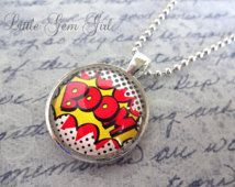 Comic Book Silver Necklace - Pow Bang Boom Word Expressions - Choose One - Retro Comic Book Jewelry -  Comic Nerd Superhero Jewelry