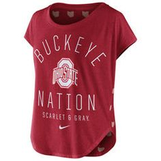 Women's Nike Scarlet Ohio State Buckeyes Game Day Signal Tri-Blend T-Shirt