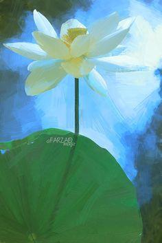 Lotus Flower Paintings - Image Based - Akvis Oil Paint Fil… | Flickr Flower Painting Images, Lotus Flower Images, Oil Painting Flowers, Flower Art, Painting & Drawing, Flower Paintings, Lotus Flowers, Paint Filter, Plant Leaves