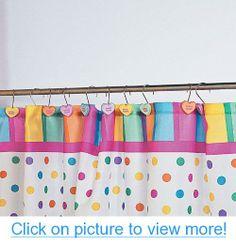 Conversation Hearts Shower Curtain Hooks - Bathroom $ Valentine's Day Decor - One Dozen