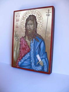 St. John the Forerunner icon hand painted.hand painted orthodox icon 8,3 x 5,9 in