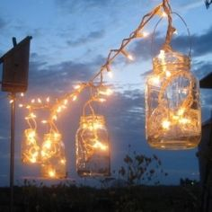Lighting for an Outdoor Reception - No Tent, No Trees « Weddingbee Boards