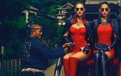 Świąteczna kampania reklamowa Guess, fot.Chen Man