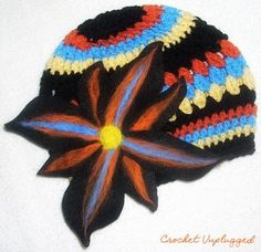 Multicolored Crochet Beanie Cap  Cloche  Kufi  by CrochetUnplugged, $45.00