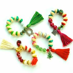 Image of Christmas Tree Charm Bracelet: Holiday Collection