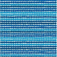 Räsymatto fabric, blue by Maija Louekari
