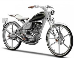 For the Tokyo Motor Show Yamaha presented the MOEGI. A retro styled motorcycle that only weighs 176 pounds, is very fuel efficient and thus only comes with a really small tank. Motos Yamaha, Yamaha Motorcycles, Yamaha 125, Vintage Motorcycles, Scooters, Cb 600 Hornet, Powered Bicycle, Kawasaki Ninja 250r, Tokyo Motor Show