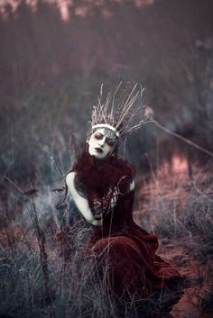 Make a headpiece out of branches