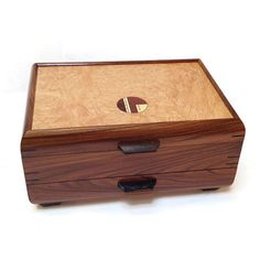 Mikutowski Woodworking - Bubinga and Maple Burl Jewelry Box | SattvaGallery.com