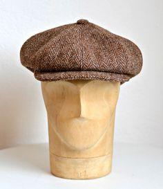 Men's Newsboy Cap in Vintage Harris Tweed - Made to Order
