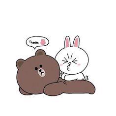 Cute Bear Drawings, Funny Drawings, Cute Love Gif, Cute Love Pictures, Cony Brown, Brown Bear, Cute Love Cartoons, Cute Cartoon, Calin Gif