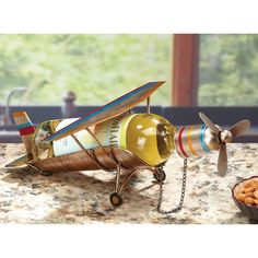 Wine Bottle Holder – Airplane Tall x Wide Hand-Wrought Steel Construction Holds Any Standard Wine Bottle Get ready to take flig. Wine And Cheese Party, Wine Decor, Wine Bottle Holders, Wine Festival, Finding A House, Wine Drinks, Metal Art, Red Wine, Airplane