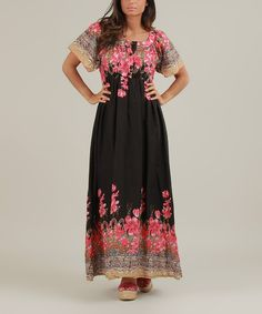 This Black & Pink Olivia Maxi Dress by des si belles is perfect! #zulilyfinds
