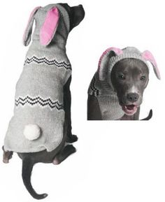 Bunny Hoodie  fits big pups! Made from 100% organic wool and plant dyes, they are soft to the touch not scratchy.
