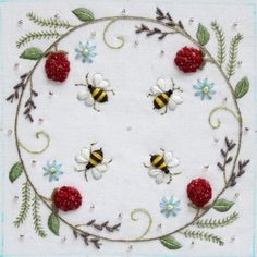 bee crewel embroidery by rob.roberts