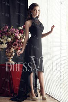 Asymetrical High-Neck Sandra's Evening Dress