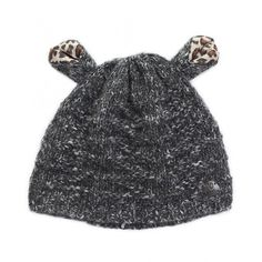 Barts Lynn Leopard Ears Beanie Hat ($31) ❤ liked on Polyvore featuring mens, men's accessories, men's hats and grey