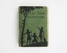 Vintage Girl Scout Handbook.
