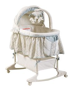 The adorable #rocking bassinet is perfect for #keeping your little one close to you during the early months. Features an attractive design with soft neutral color...