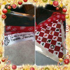 Hand made fabric Xmas bunting