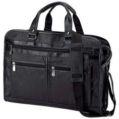 Solid Genuine Leather Briefcase $82