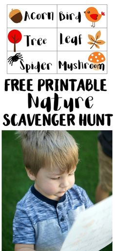 What's better than spending a fall afternoon outside exploring nature? Doing a scavenger hunt while you explore! Have fun playing outside with this free printable that you can use anywhere. #LetsPlayTrees #LetsPlay #ad