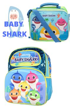 Baby Shark Kids Children Back to School Backpacks and Lunch Bags #babysharkbackpack #babysharkkidsbackpack #babysharkschoolbackpack #babysharklunchbag Back To School Backpacks, Kids Backpacks, Sharks For Kids, Us School, Lunch Bags, Baby Shark, Cute Babies, Cool Things To Buy, Cool Stuff