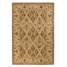 Home Decorators Collection Menton E Brown Soft Gold 3 Ft X 5 Area Rug The Depot