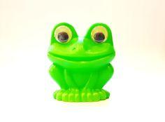 Vintage Soviet Polyethylene Plastic toy Frog USSR 1970's by USSRvintageToys on Etsy