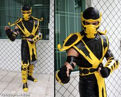 make a scorpion costume mortal kombat ninja collins board pinterest mortal kombat scorpion and costumes