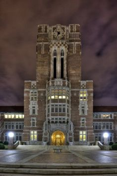 University of Tennessee's Ayres Hall at night was the winning photo subject of this image by Nick Deal. The photo location is one of stops in the June 14 Knox Heritage Art & Architecture Tour.