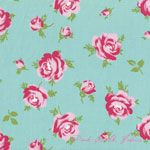 Tanya Whelan Rosey Little Roses Teal [FS-TW062-Teal] - $10.95 : Pink Chalk Fabrics is your online source for modern quilting cottons and sewing patterns., Cloth, Pattern + Tool for Modern Sewists