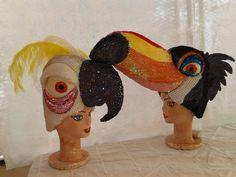 Gorros en goma espuma recamados en lentejuelas de personajes de Río la Película     Gorros de goma espuma bordado en lentejuelas y pluma...