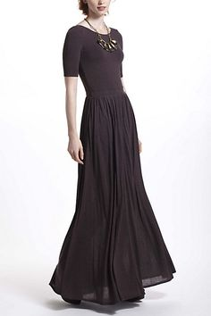 Scoopback Maxi Dress (Brown). Anthropologie. $148.00