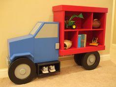 Truck book shelf by Brian Hulett Woodworking hulettwoodworking@gmail.com
